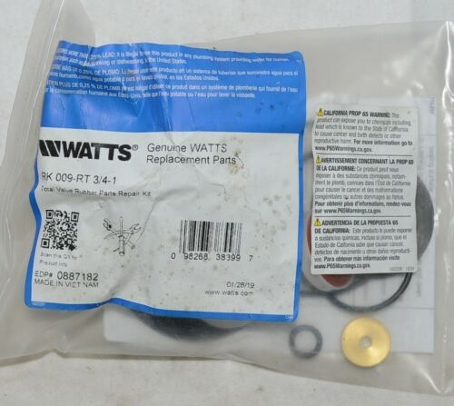 Watts Total Valve Rubber Parts Repair Kit 3/4 Inch 0887182