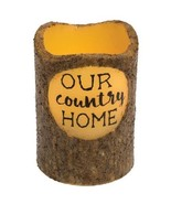 New Our Country Home Pillar Candle w/timer table floral decor - $19.79