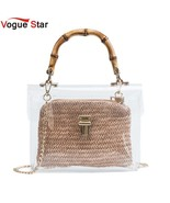 2019 Handbag With Bamboo Handle Summer Small Chain Crossbody Bags Ladies... - $24.15
