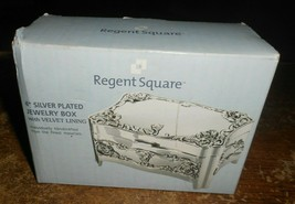 regent square 4 inch silver plated jewelry box in the box new - $9.89