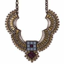 Aztec style large Statement Necklace fashionista gift | Secret Halo - $13.73