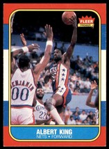 1986-87 Fleer Basketball Premier Albert King New Jersey Nets #59 - $0.50