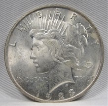 1923-P Peace Dollar CH UNC Coin AF565 - $35.73