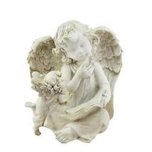 Northlight 8.5IN Heavenly Garden Ivory Angel Book & Friend Outdoor Garde... - $27.22