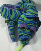 "Wild Republic Snake Girl Plush Blue Green Purple- Sweet and Sassy -Cute Eyes 54"" - $28.26"