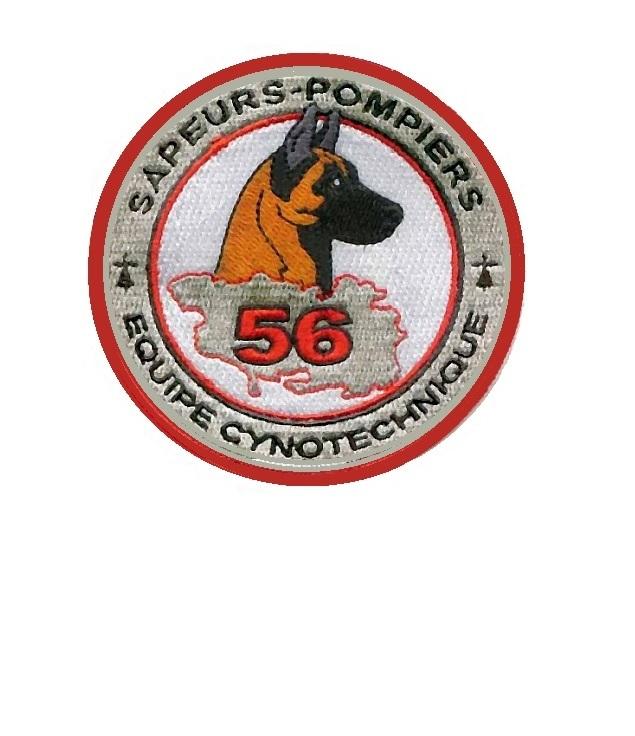 Orbihan sdis 56 equipe cynotechnique bretagne french fire department velcro 3.75 x 3.75 in 10.99