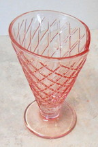 "DESSERT GELATO SUNDAE PINK GLASS FOOTED CUP 5 1/2"" TALL - $27.72"