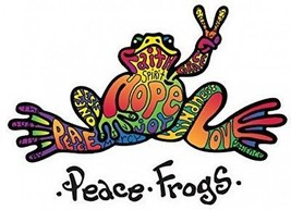 Enjoy It Peace Frogs Hope Peace Frogs Car Sticker, Outdoor Rated Vinyl ... - $16.61