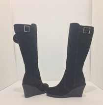 La Canadienne Kacy Women's Wedge Heel Knee High Waterproof Boots Brown S... - $106.21