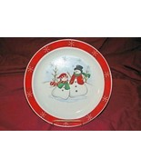 Royal Seasons Snowman With Red Band Snowflakes Dinner Plate - $3.78