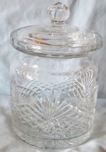 Wedgwood Majesty Pattern Crystal Biscuit Jar - $42.46