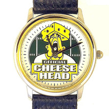 Green Bay Packer Cheese Head Style, New Collectable Leather Band Watch! Just $69 - $68.16