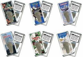 Atlantic City FootWhere® Souvenir Fridge Magnets. 6 Piece Set. Made in USA - $28.50