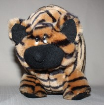 "12"" Striped Plush Stuffed Cat Chubby Plump Brown Black Stripes Carlton C... - $9.85"