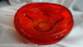 New Martinsville Viking Glass Orange Persimmon Epic Rolled Fruit Bowl - $59.00