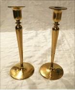 T. F. McGann & Sons Art Nouveau Art & Crafts Heavy Bronze Brass Candles... - $183.15