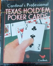 Cardinal's Professional Texas Hold'em Poker Playing Cards Deck New in Se... - $10.95