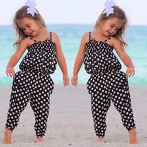 Toddler Kids Girls Clothes Polka Dot Jumpsuit Infant Baby Cotton Romper ... - $24.50