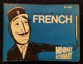 Vintage French English Minimax Dictionary 1969 Pocket Size Book - $5.93