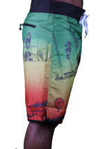 T.I.T.S. Two In The Shirt Hot Girl Beach Jamaica Swim Surf Board Shorts Size: 28 image 7