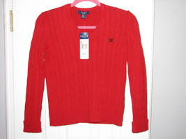 NEW with Tags! Women's CHAPS Petite Small Red Pullover Sweater - $13.95