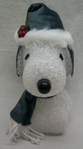 "Peanuts PLASTIC LED LIGHT UP SNOOPY 8"" WINTER CHRISTMAS DECOR FIGURE NEW - $19.80"