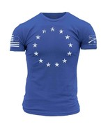 New GRUNT STYLE 1776 BETSY ROSS ROYAL   T Shirt - $21.95+