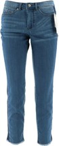 Women with Control MyWonder Denim Ankle Jeans Contrast Mid Blue 20P NEW ... - $39.58