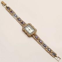 Russian Purple Zircon Wrist Watch 925 Sterling Silver Women Engagement J... - $46.15