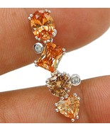 5CT Padparadscha Sapphire & Topaz 925 Solid Sterling Silver Pendant Jewelry VP1 - $8.09