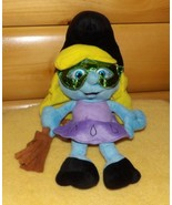 "Smurf Sweet Blonde Smurfette Plush 13"" in Witch Cap & Shiny Mask with Broom - $9.59"
