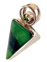 79409a sterling silver pendant peridot green art glass charles albert jewelry thumb200