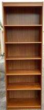 Modern Danish Teak Veneer Adjustable Shelves Bookcase Display - $312.79