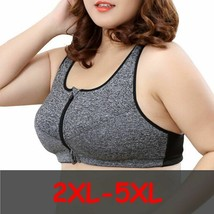 Women Zipper Sports Bra Shockproof Pushup Gym Fitness Athletic Running P... - $12.83+