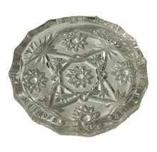 """Vintage Clear Glass Star of David Cigar Ashtray 8"""" Anchor Hocking Pressed Large - $9.90"""