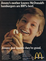 1969 McDonald's Jimmy 100% Beef Print Ad - $9.99