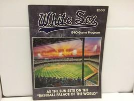 Chicago White Sox 1990 Game Program  Old Comiskey Park Sammy Sosa Carlto... - $8.25