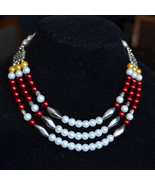 Multistrand statement necklace, handmade necklace, tribal style collar (... - $29.99