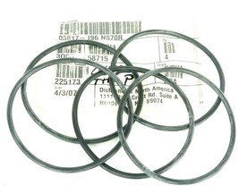 LOT OF 5 NEW GENERIC 03917-196 NS70R O-RINGS 4'' IN. ID. 4-3/8'' IN. OD. 225173