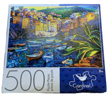 Cardinal Games 500 Puzzle Pieces Boats and Old Town Theme 11 × 14 - $13.85