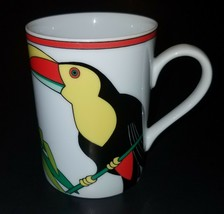 VTG Fitz & Floyd Toucan Mug Coffee Cup Glass 1980 Japan - $19.75