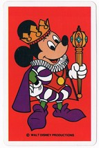 Walt Disney Mickey Mouse Playing Cards King Red Standard Deck Vintage - $5.99
