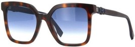 Fendi FF0269/S 08608 Sunglasses Havana Brown Frame Blue Lenses 54mm - $148.49