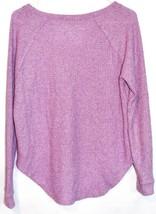 American Eagle Soft & Sexy Plush Fuchsia Purple Long Sleeve Knit Sweater Size XS image 2