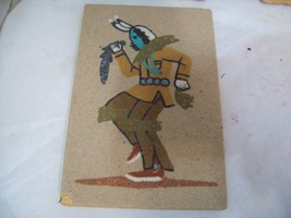 "Artist Signed Navajo Sand Art Painting Yei Clown, 6"" x 4"" Free Shipping S3 - $19.79"