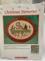 Dimensions Christmas Memories Counted Cross Stitch Kit 8372 Picture 1989 Sealed - $19.79