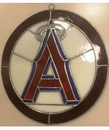 LA Angels Hand Made Stained Glass Wall Sign Mancave Outdoor Bar Decoration - $37.56