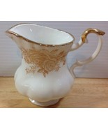"""Royal Albert Old Country Roses Gold Creamer 8 Oz 4"""" Floral Fluted Hard T... - $56.09"""