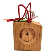 ShabbyCore Woodpecker Peanut Butter Feeder - $11.00