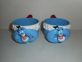 Vintage Ringling Bros Disney Aladdin Genie Plastic Coffee 3D Mug Cup Lot of 2 - $24.99